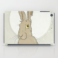 hare iPad Cases featuring Hare by Stu Jones