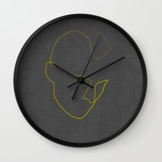 One Line Taxi Driver Wall Clock