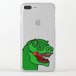 Green T-Rex Clear iPhone Case
