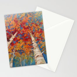Birch tree point of view Stationery Cards