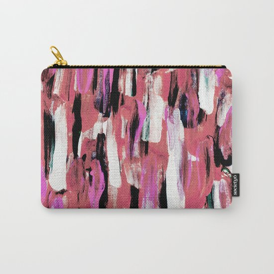 Colourful Feathers Carry-All Pouch