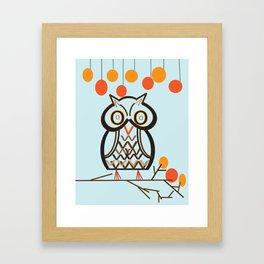The Owl In Myriad Pro Framed Art Print
