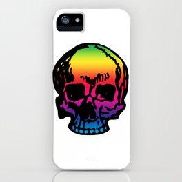 Pirate Skull Color Spectrum, Vibrant Skull, Rainbow Gradient, Super Smooth Super Sharp 9000px x 11250px PNG iPhone Case