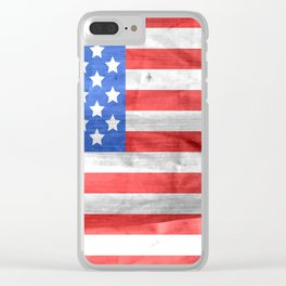 Vintage Old Glory Clear iPhone Case