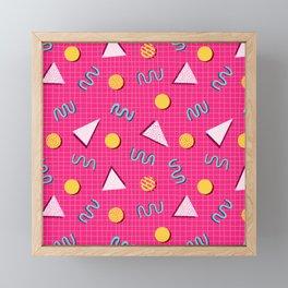 Geometric Memphis in Pink Framed Mini Art Print