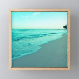 calm day 05 ver.blue Framed Mini Art Print