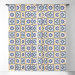 Assorted tiles pattern Blackout Curtain