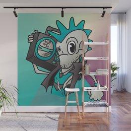 Punk Skeleton Wall Mural