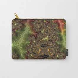 Funky Weaves Weaving Branches Green Red Golden Fractal Abstract Art Pattern Digital Graphic Design Carry-All Pouch