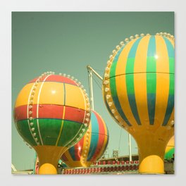 Up Up & Away II Carnival, fair, ride, amusement, whimsical, fun rainbow, adventure Canvas Print