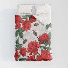 The Red Roses #Spring #Flowers Duvet Cover