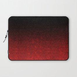 Red & Black Glitter Gradient Laptop Sleeve