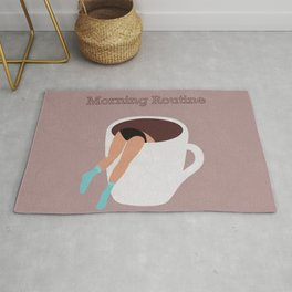 Morning routine Rug