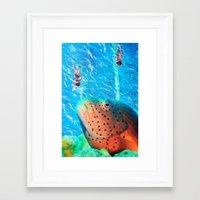 swim Framed Art Prints featuring Swim by John Turck