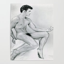 Supurb Nude Male Art Study Poster