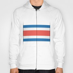 Flag of Costa Rica. The slit in the paper with shadows. Hoody