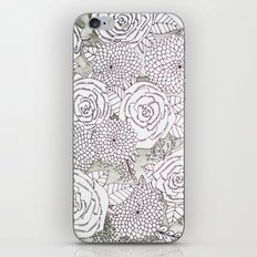 Floral Doodles in Gray iPhone & iPod Skin