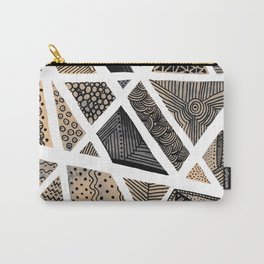 Geometric doodle pattern - neutral Carry-All Pouch