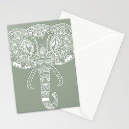 Green Elephant Stationery Cards