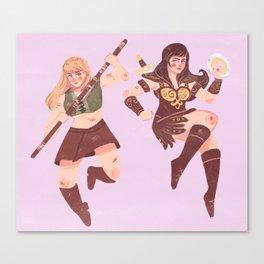 Xena and Gabrielle Canvas Print
