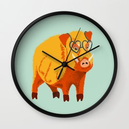 Benevolent Boar Wall Clock