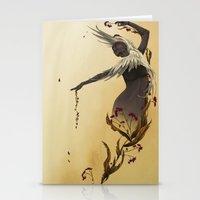 crane Stationery Cards featuring Crane  by Devon Busby Busbyart