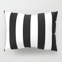 Black & White Vertical Stripes - Mix & Match with Simplicity of Life Pillow Sham