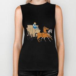Stagecoach Driver Horse Cartoon Biker Tank