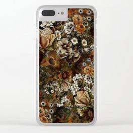Night Garden Gold Clear iPhone Case