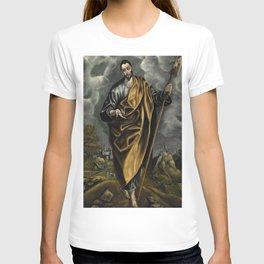 """El Greco (Domenikos Theotokopoulos) """"St. Judas Thaddaeus or St. Thomas"""" T-shirt"""