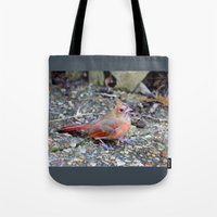cardinal Tote Bags featuring Cardinal by MyLove4Art