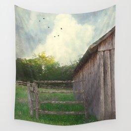 Rustic Summer Barnyard Wall Tapestry