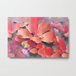 Glitch Petals Metal Print