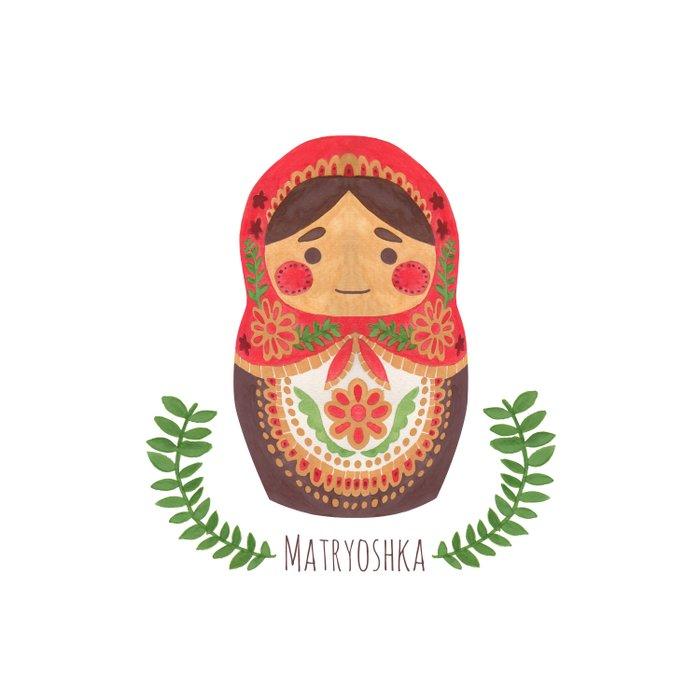 Matryoshka Doll Duvet Cover