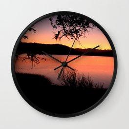 LAKE HENNESSEY - NAPA CALIFORNIA - SUNSET REFLECTION Wall Clock