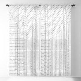 Lines Art Sheer Curtain