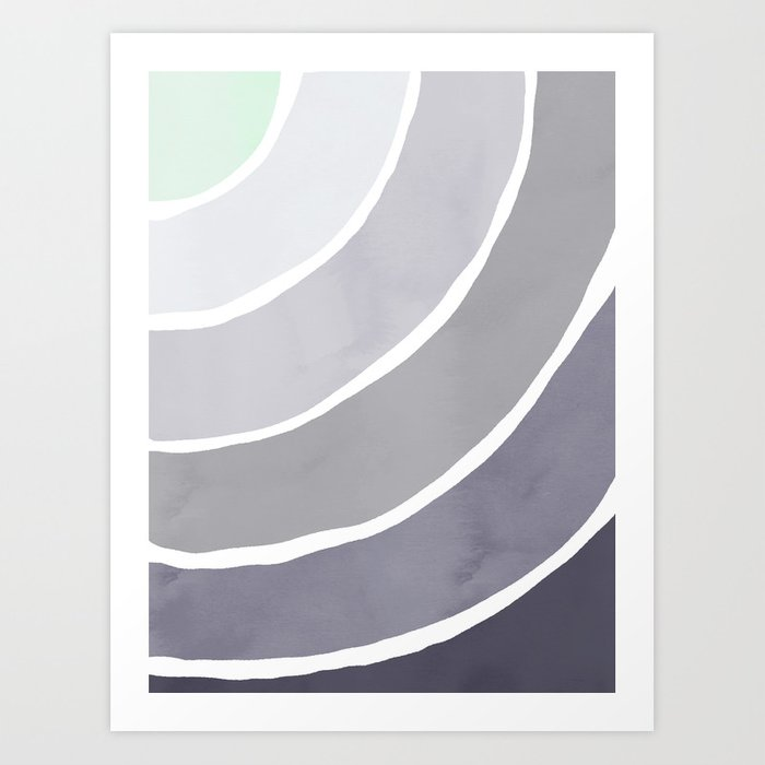 Blue Palette Rainbow Art Print