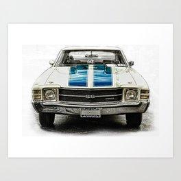 CLASSIC CAR LOVE Art Print