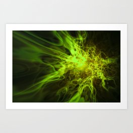 Real Green Fire Art Print