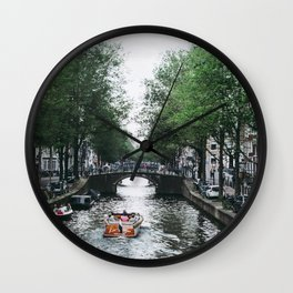 Canal Cruise Wall Clock