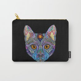 Mystic Psychedelic Cat Carry-All Pouch