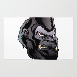 gorilla head illustration Rug