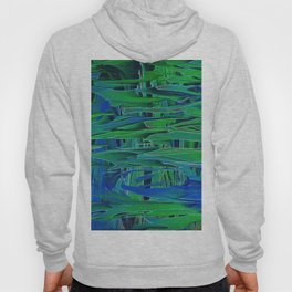 Abstract Garden Leaves Design 716 Hoody