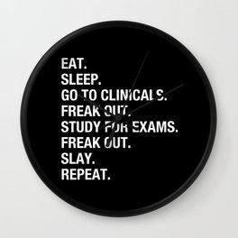 Clinical, Nursing Student, Med Student, Funny Nurses Wall Clock