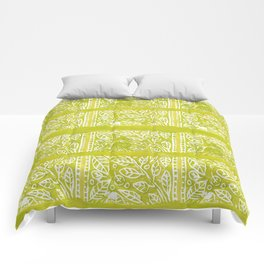 Leaves in Lime Comforters