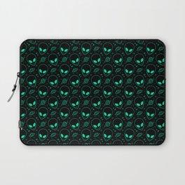 Alien and UFO Pattern Laptop Sleeve