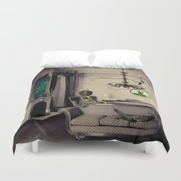 Ever Being, Always Seeing, Never Dying Duvet Cover