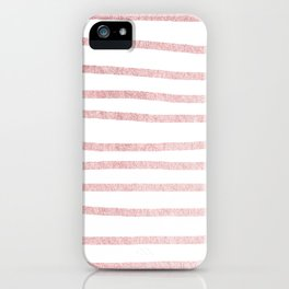 Simply Drawn Stripes in Rose Gold Sunset iPhone Case