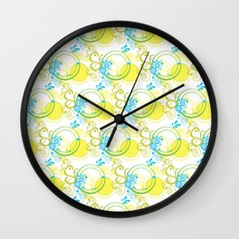 Swirls & Circles Wall Clock