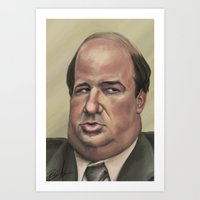 kevin russ Art Prints featuring Kevin by Ben Anderson